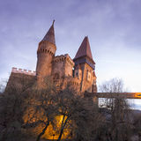 Corvin Castle from Hunedoara, Romania Stock Images