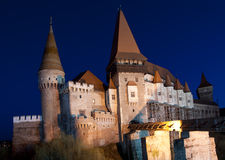 The Corvin Castle of Hunedoara, Romania. Built starting from the 14th century, the Corvin Castle of Hunedoara, Romania (also known as the Hunyadi Castle or stock photo