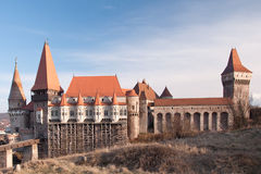 The Corvin Castle of Hunedoara, Romania. Built starting from the 14th century, the Corvin Castle of Hunedoara, Romania (also known as the Hunyadi Castle or stock photos