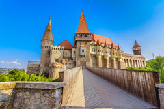 Corvin Castle in Hunedoara, Romania stock photography