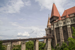 Corvin Castle in Hunedoara, Romania Stock Images