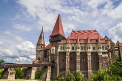 Corvin Castle in Hunedoara, Romania. Corvin Castle or Hunyadi Castle in Hunedoara, Romania Stock Photo