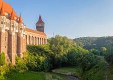Corvin Castle, Hunedoara, Romania stock photo