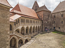 Corvin Castle in Hunedoara, Romania Stock Photography