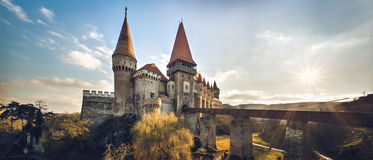 Corvin castle from Hunedoara, Romania, 14th century Royalty Free Stock Photo
