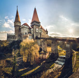 Corvin castle from Hunedoara, Romania, 14th century Royalty Free Stock Photography