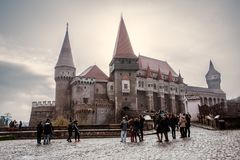 Corvin Castle in Hunedoara Romania royalty free stock photography