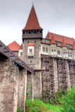 Corvin Castle (Hunyad Cstle, Hunedoara). The Corvin Castle or Corvinesti Castle is situated on a higher hill in Hunedoara, Romania. The construction of this Stock Photos