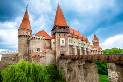 Corvin castle in Romania Royalty Free Stock Photo