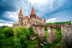 Corvin castle in Romania Royalty Free Stock Photos