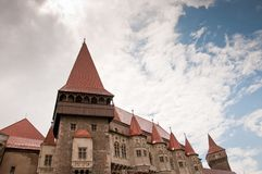 Corvin Castle in Romania - old stone fortification Stock Photo