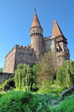The Corvin castle in Transylvania Stock Image