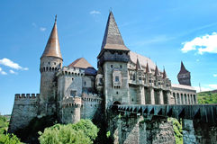 The Corvin castle in Transylvania Stock Photos