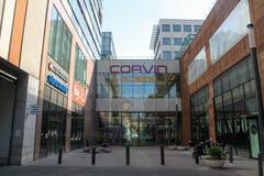 Corvin-Piazzamall in Budapest, Ungarn lizenzfreie stockfotos