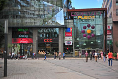 Corvin plaza shopping centre in downtown of Budapest Stock Photography