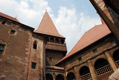 The Corvin's Castle yard Stock Images