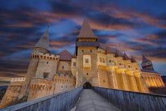 Corvin`s Hunyadi Castle in Hunedoara, Romania. Corvin`s Hunyadi Castle, historic monument and major tourist attraction in Hunedoara, Romania Royalty Free Stock Photos