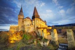 Corvin`s Hunyadi Castle in Hunedoara, Romania. Corvin`s Hunyadi Castle, historic monument and major tourist attraction in Hunedoara, Romania Royalty Free Stock Photo