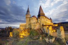 Corvin`s Hunyadi Castle in Hunedoara, Romania Stock Photography