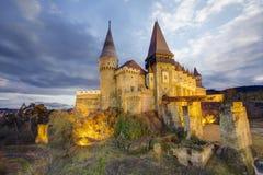 Corvin`s Hunyadi Castle in Hunedoara, Romania. Corvin`s Hunyadi Castle, historic monument and major tourist attraction in Hunedoara, Romania Stock Photography