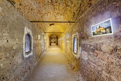 Corvin`s Hunyadi Castle in Hunedoara, Romania. Corvin`s Hunyadi Castle`s galery. A historic monument and major tourist attraction in Hunedoara, Romania Royalty Free Stock Photos