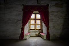 Corvin`s Hunyadi Castle in Hunedoara, Romania. Corvin`s Hunyadi Castle`s interior, a historic monument and major tourist attraction in Hunedoara, Romania Stock Images