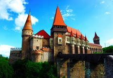 Corvin-Schloss oder Hunyad-Schloss, Hunedoara, Rumänien lizenzfreie stockfotos