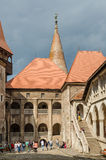 Corvin-Schloss-Palast-innerer Hof Lizenzfreie Stockfotografie