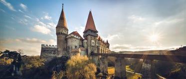 Corvin-Schloss von Hunedoara, Rumänien, 14. Jahrhundert Lizenzfreies Stockfoto