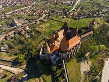 Corvin slott från Hunedoara Arkivfoto
