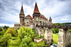 Corvin slott, Hunedoara, Rumänien Royaltyfri Fotografi
