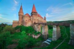 Corvin slott i Rumänien Arkivbild