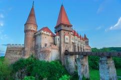 Corvin slott i Rumänien Royaltyfri Bild