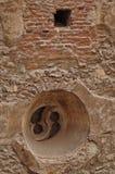 Corvin slottdetaljer, Rumänien Arkivbilder