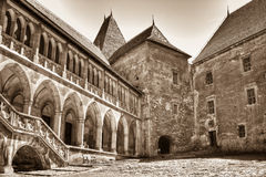 Corvinesti Castle. In Hunedoara, Romania Stock Photos