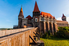 Corvinesti castle Royalty Free Stock Images