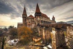 Corvinesti Castle, Romania. The Corvinesti castle also known as the Hunyad castle, is a Gothic-Renaissance castle in Hunedoara (Transylvania), Romania Stock Photo