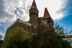 Corvinilor城堡 库存照片