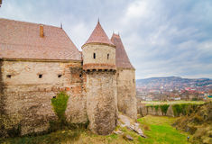 Corvinilor Castle in Hunedoara region of Romania Royalty Free Stock Photos