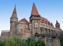 Corvinilor castle Stock Photography