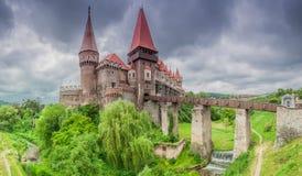 Corvins城堡,罗马尼亚 免版税库存图片
