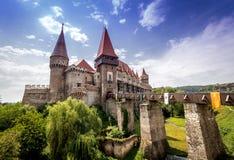 Corvins Castel Transilvania | Castillo de Huniazilor foto de archivo libre de regalías