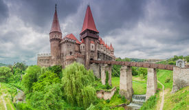 Corvins-Schloss, Rumänien lizenzfreie stockbilder