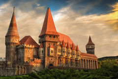 Corvins-` Schloss Rumänien lizenzfreie stockbilder