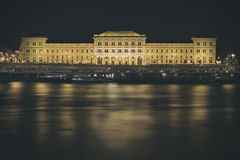 Corvinus university. Night view of the Corvinus university in Budapest - Hungary Royalty Free Stock Photography
