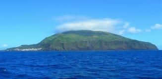 Corvo海岛的风景  亚速尔群岛,葡萄牙 免版税库存照片