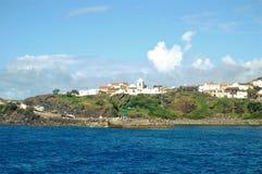 Corvo海岛的风景  亚速尔群岛,葡萄牙 免版税图库摄影