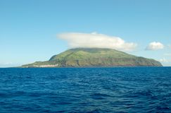 Corvo海岛的风景  亚速尔群岛,葡萄牙 库存图片