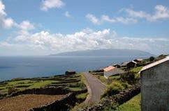Corvo海岛的风景  亚速尔群岛,葡萄牙 库存照片