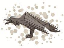 Corvo abstrato da ilustração do vetor Foto de Stock